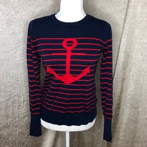 Nautica Nautical Blue Red Sweater Size Small